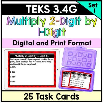 Multiply 2-Digit by 1-Digit Numbers-TEKS 3.4G