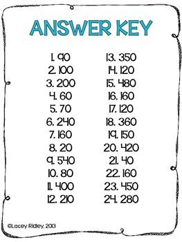 Multiplying 1-Digit Numbers by Multiples of 10