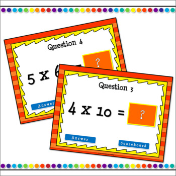Multiplying 1 Digit Numbers by Multiples of 10 PPT Game