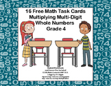 Multiplying 1 Digit by 3-4 Digits -Grade 4- 16 Free Math T