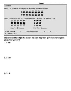 Multiplying 1 digit x 2 digit numbers
