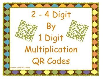 Multiplying 2 - 4 digits by 1 digit QR Codes