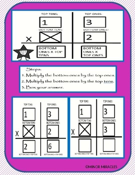 Multiplying 1-By-1 Digits Foldable