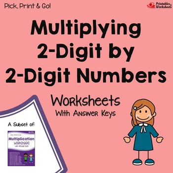 Multiplying 2 By 2 Digit Multiplication Worksheets With Answer Keys