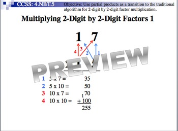 Multiplying 2-Digit By 2-Digit Factors 1 (Part of Multiplication Unit)