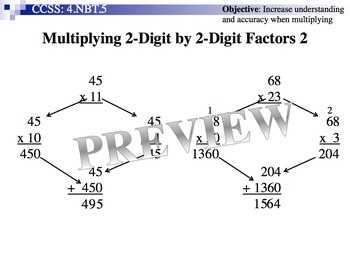 Multiplying 2-Digit By 2-Digit Factors 2 (Part of Multiplication Unit)