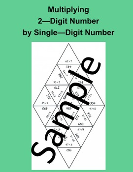 Multiplying 2 – Digit Number by Single – Digit Number – Math puzzle