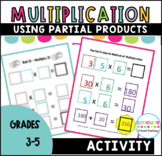 Multiplying 2 Digit Numbers Using Partial Products Activity
