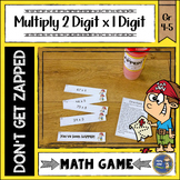 Multiplication 2 Digit Times 1 Digit Don't Get ZAPPED Math Game
