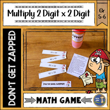 Multiplication 2 Digit Times 2 Digit ZAP Math Game
