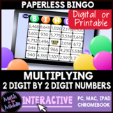 Multiplying 2 2-Digit Numbers Interactive Bingo Review Game - Distance Learning