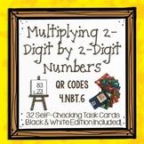 Multiplying 2-Digit by 2-Digit Numbers QR Task Cards