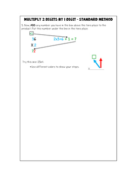 Multiplying 2 Digits by 1 Digit Interactive Notebook