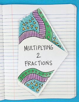 Multiplying 2 Fractions Interactive Notebook Foldable by M