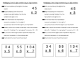 Multiplying 2 and 3 digit numbers by 1 digit Journal Notes
