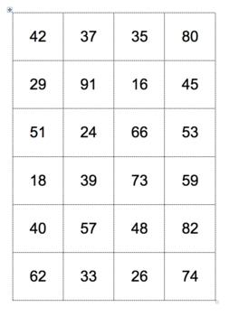 Multiplying 2-digit Numbers Partner Activity plus Bonus