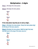 Multiplying 2-digit by 1-digit Reference Sheet