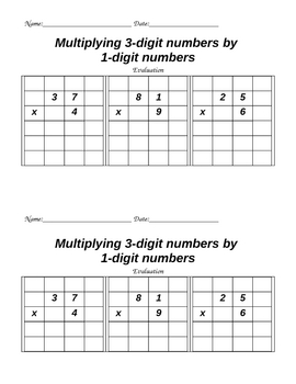 Multiplying 2 digits by 1 digits on grid paper - 4.NBT.B.5