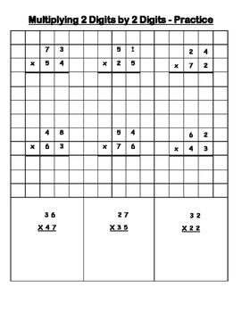 Multiplying 2 digits by 2 digits - 4.NBT.B.5 and 5.NBT.B.5