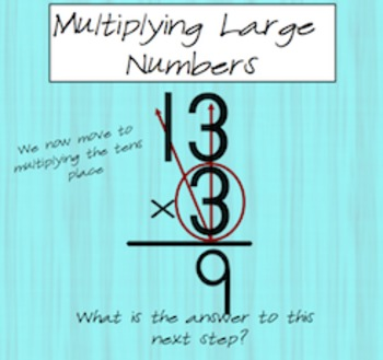 Multiplying 2 or 3 digits by 1 digit