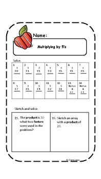 Multiplying 2 through 9
