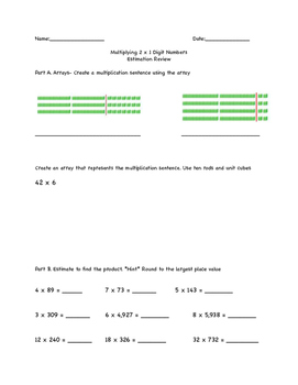 Multiplying 2 x 1 digits/Estimation Review
