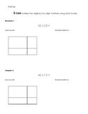 Multiplying 2x2 digit numbers using area model