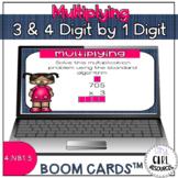 Multiplying 3 & 4 Digit by 1 Digit Boom Cards