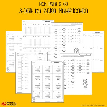 Multiplication 3 Digits By 2 Digits Multiplication Worksheets With Answer Keys