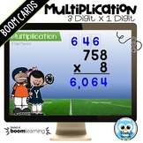 Multiplying 3 Digit Numbers by a 1 Digit Number Digital Task Cards