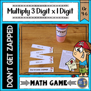 Multiplication 3 Digit Times 1 Digit Don't Get ZAPPED Math Game