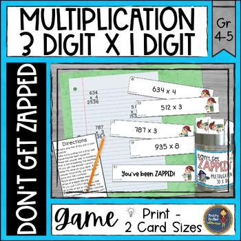 Multiplication 3 Digit Times 1 Digit ZAP Math Game