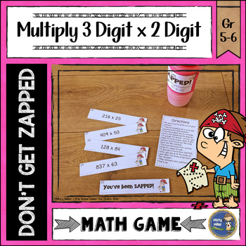 Multiplication 3 Digit Times 2 Digit ZAP Math Game