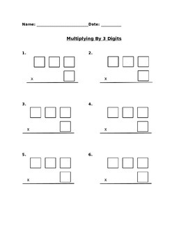 Multiplying 3-Digit by 1-Digit Numbers