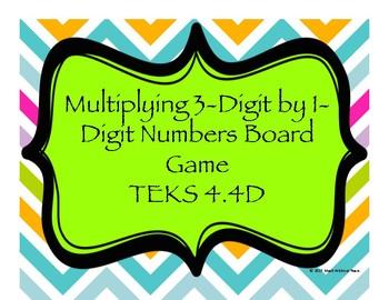 Multiplying 3-Digit by 1-Digit Numbers Board Game TEKS 4.4D