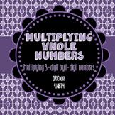 Multiplying 3-Digit by 1-Digit Numbers QR Task Cards