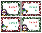Multiplying 3 Factors Task Cards
