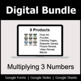 Multiplying 3 Numbers - Digital Bundle | Distance Learning
