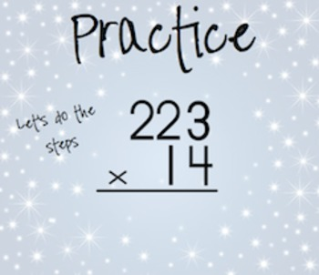 Multiplying 3 by 2 Digit Practice