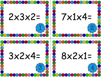 Multiplying 3 factors