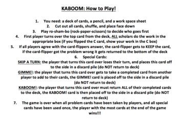 Multiplying 4-Digit by 1-Digit Numbers KABOOM Game