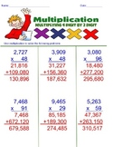 Multiplying 4 digits by 2 digits