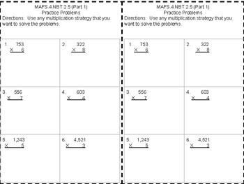 Multiplying 4 digits x 1 digit