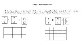 Multiplying A Fraction by A Fraction with Visual Supports