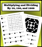 Multiplying And Dividing Whole Numbers by 10, 100, and 1000 Color Worksheet