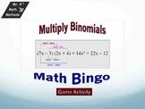 Multiplying Binomial - BINGO Game