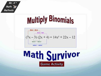 Multiplying Binomial - Game