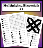 Multiplying Binomials Color Worksheet #1