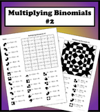 Multiplying Binomials Color Worksheet #2
