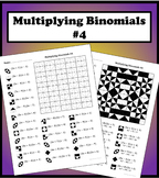 Multiplying Binomials Color Worksheet #4